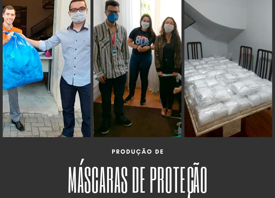 Fotos da Produção de Máscaras de Proteção